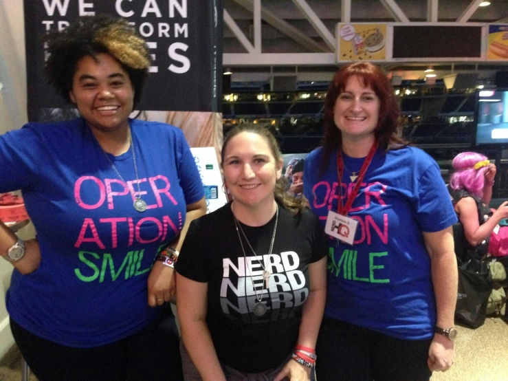 Lovely volunteers at Nerd HQ and the ladies of Operation Smile