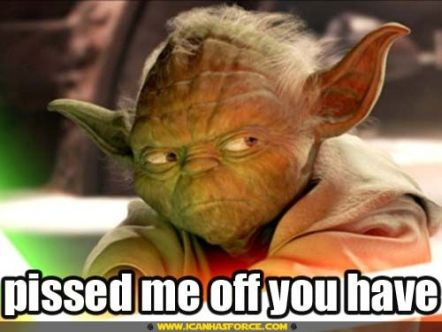 Pissed Off Yoda