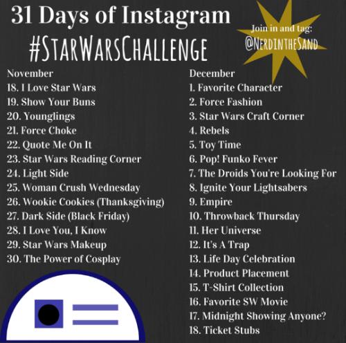 #StarWarsChallenge December 2015