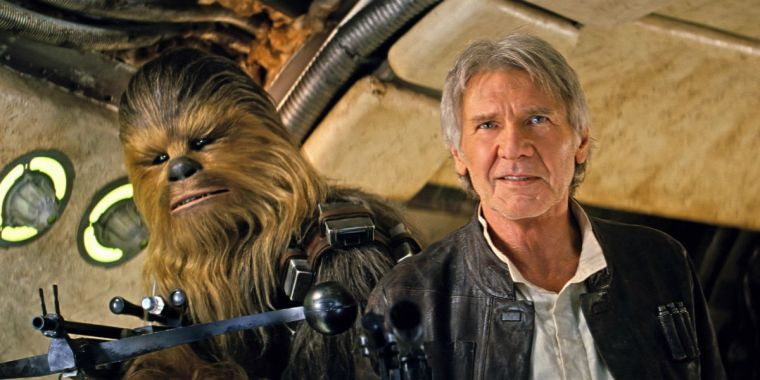 Star Wars The Force Awakens Han Solo and Chewbacca