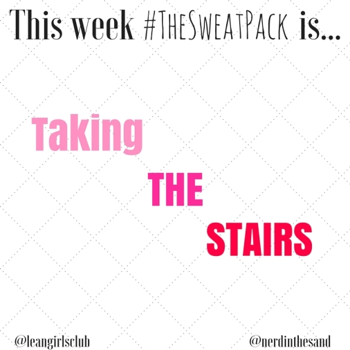 #TheSweatPack taking the stairs Instagram challenge