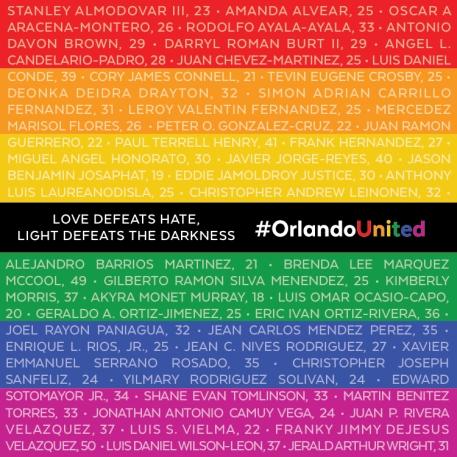 Pulse Victims names heartbeats blog post
