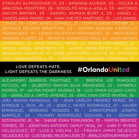 Pulse Victims names heartbeats blog post