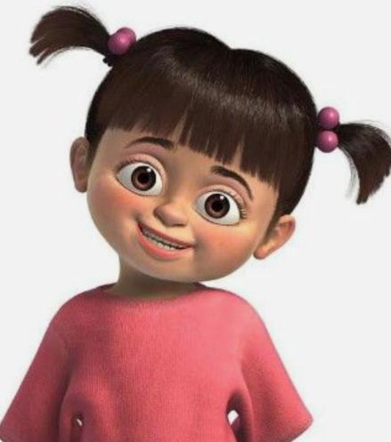 30 Days of nerdy Hair Day 23 Boo from Disney Pixar's Monsters Inc cartoon hair blog post