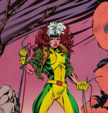 30 Days of Nerdy Hair Day 25 Rogue from X-Men comic books blog post