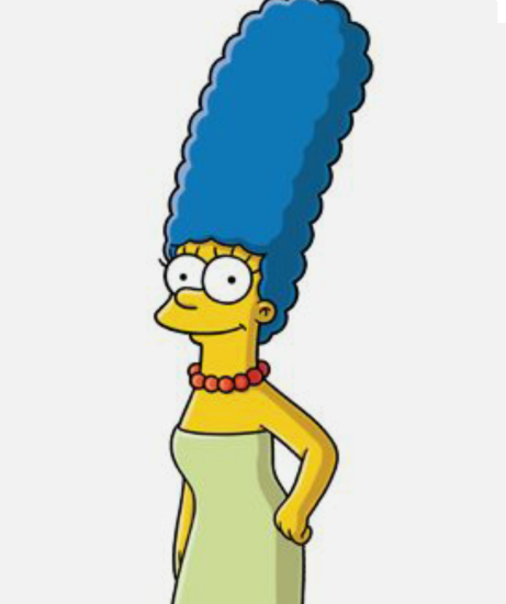 30 Days of Nerdy Hair DAy 4 Marge Simpsons blue hair blog series
