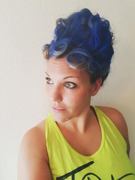30 Days of Nerdy Hair Day 4 Marge Simpson blue hair blog post