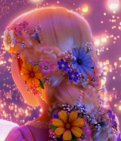 30 Days of Nerdy Hair Rapunzel from Tangled