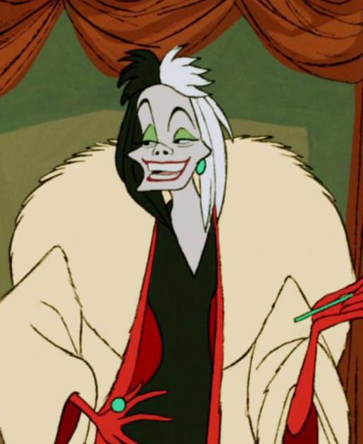 30 Days of Nerdy Hair Day 9 Cruela de vil 101 Dalmatians Disney villain hair blog post