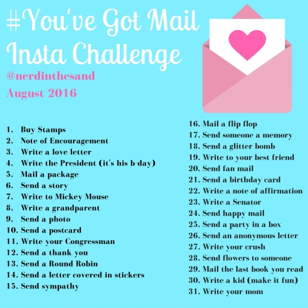 #YouveGotMail Instagram Challenge August 2016