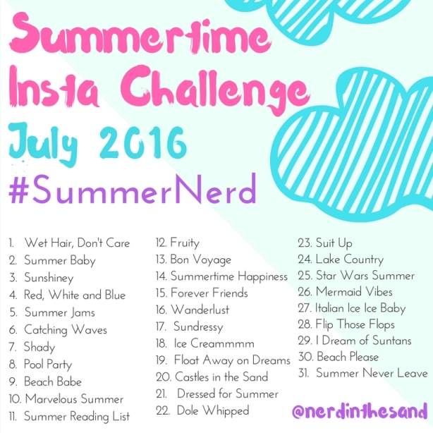 #SummerNerd Instagram Challenge July 2016
