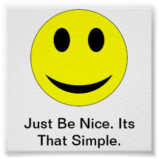 Just be nice poster from Dazzle nerd blogger