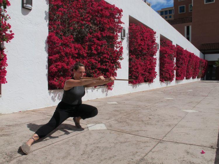 Disney Princess Boot Camp Mulan Week stick fighting nerd fitness blog post