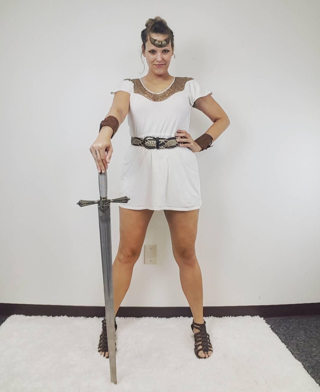 Thrift Store Cosplay Day 6 Amazon of Themyscira Wonder Woman fashion blog post DC Comics