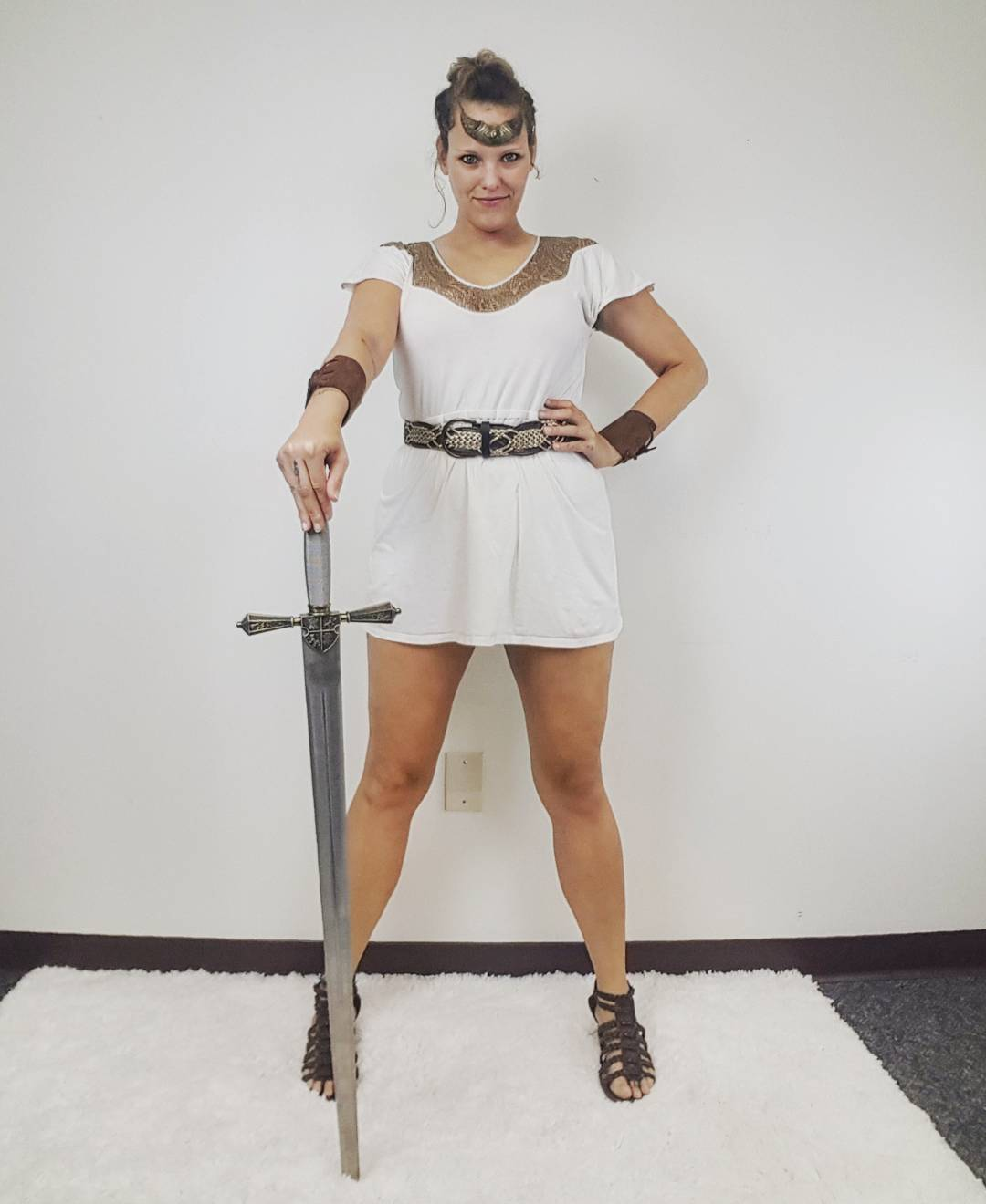 Thrift Store Cosplay Day 6 Amazon of Themyscira Wonder Woman fashion blog post DC Comics