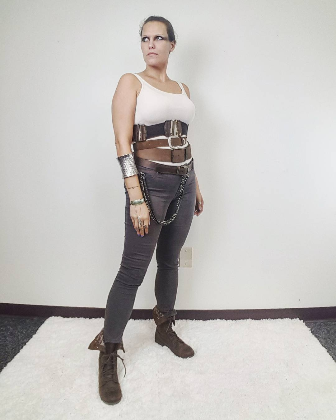 Thrift Store Cosplay Day 8 Imperator Furiosa from Mad Max Fury Road fashion blog post Charlize Theron