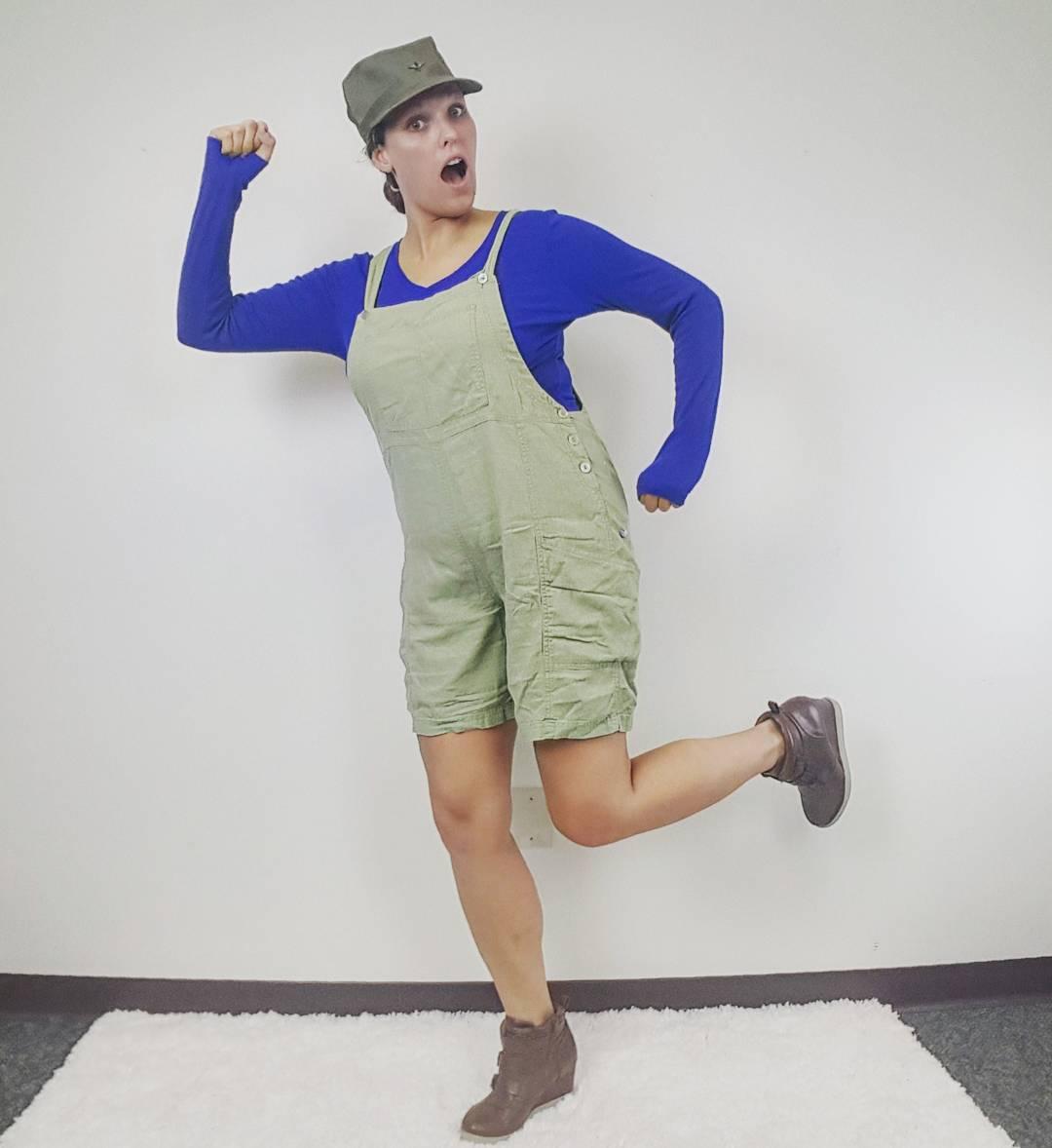 Thrift Store Cosplay Day 13 Luigi Super Mario Brothers Nintendo fashion blog post