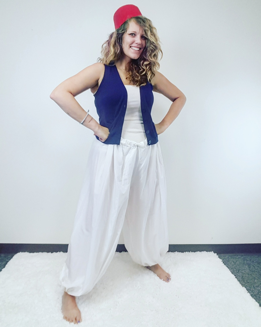 Thrift Store Cosplay Day 14 Aladdin Disney fashion blog post