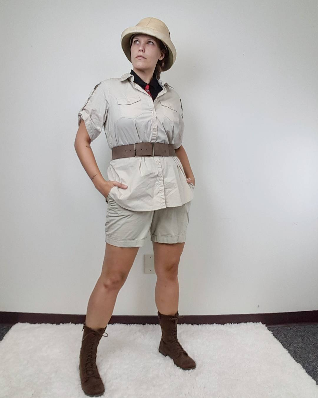 Thrift Store Cosplay Day 18 Van Pelt from Jumanji villain fashion blog post
