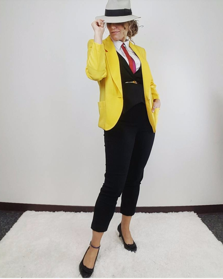 Thrift Store Cosplay Day 21 Dick Tracy Private Eye fashion blog post