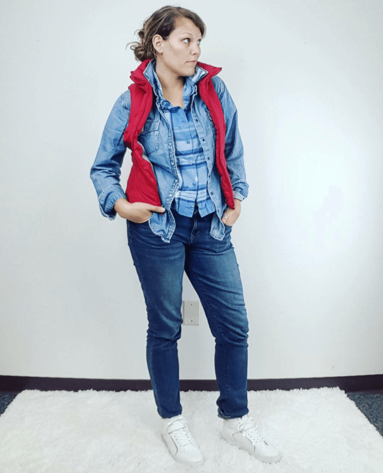 Thrift Store Cosplay Day 25 Marty McFly Back to the Future Michael J. Fox fashion blog post