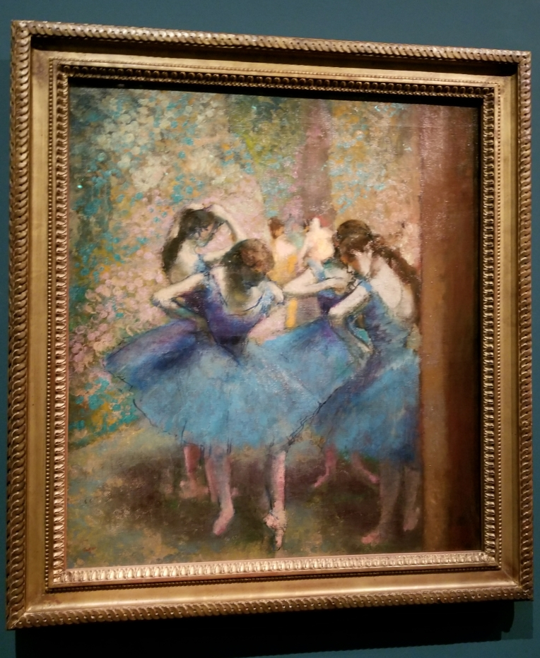Lizzie does Paris - Degas' blue dancers