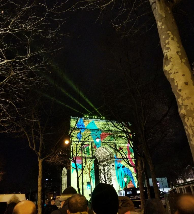 Lizzie does Paris - New Year's Eve Arc du Triomphe