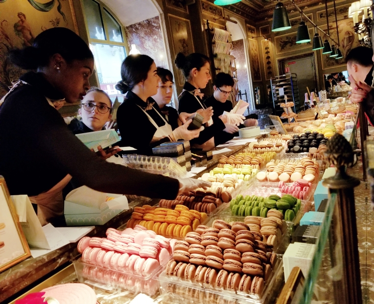 Lizzie does Paris - Laduree macarons
