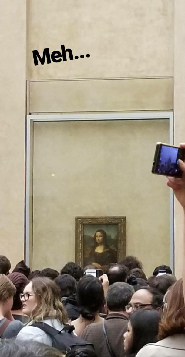 Lizzie does Paris instastory - Mona Lisa Louvre