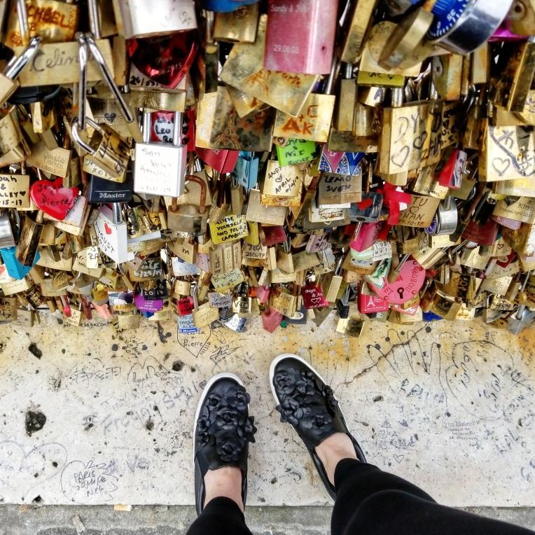 Lizzie does Paris - Pont Neuf (Love Bridge with locks)