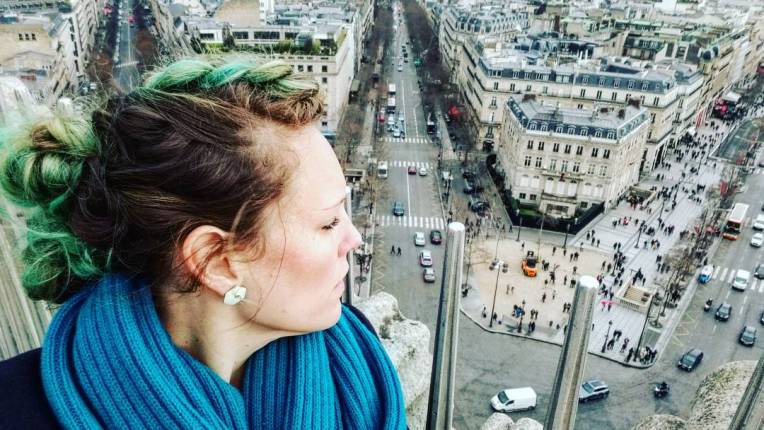 Lizzie does Paris - bird's eye view
