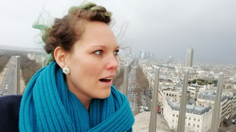 Lizzie does Paris recap blog - on top of the world